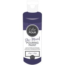 American Crafts Color Pour Pre-Mixed Paint 8oz-Indigo