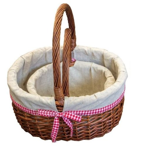 Set of 2 Lined Hollander Shopping Baskets
