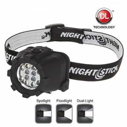 Nightstick NSP 4602B Dual Light Headlamp Black