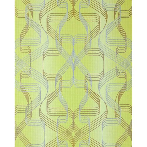 EDEM 507-21 Graphic-wallpaper metallic accents green gold 5.3 sqm (57 ft2)