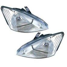 Ford Focus Mk1 Hatchback 1998-9/2001 Halogen Headlights Headlamps Pair O/S & N/S