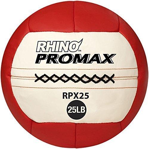 Champion Sports 25 lb Rhino Promax Medicine Ball Red White