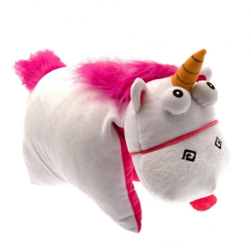 Despicable Me Official Fluffy Unicorn Folding Cushion