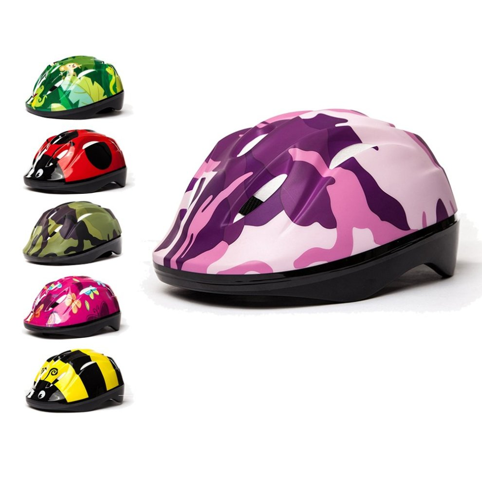 3Style Scooters® - Kids Cycle Helmet In Pink Camouflage Design - For  Cycling, Skating, Scooting - Adjustable Headband 53cm 54cm & 55cm -  Vented