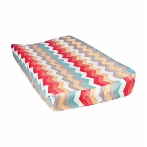 Trend Lab 2 71052 Pom Pom Play Chevron Changing Pad Cover