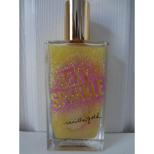 Victoria's Secret Sexy Sparkle VANILLA GOLD Shimmer Body Oil 2.5 fl oz
