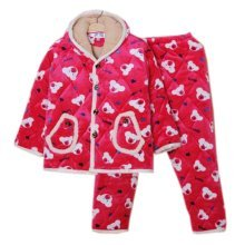 Children Pajamas Warm Thick Cotton Winter Suit Modern Set Sleepwear/Nightwear Clothes for Home, D6