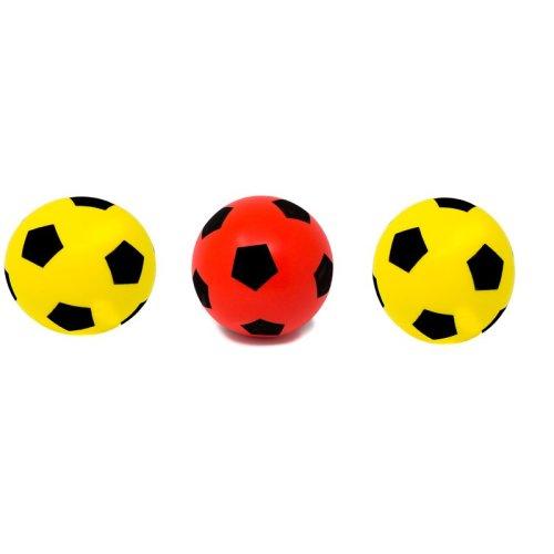 E-Deals 17.5cm Soft Foam Football - Pack of 2 Yellow + 1 Red