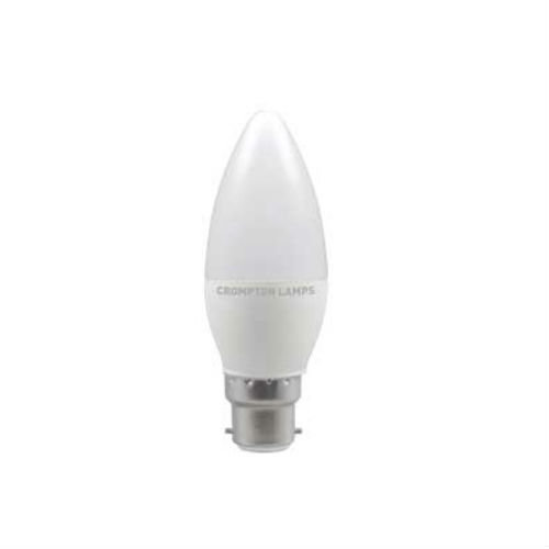 Crompton LED Candle Thermal Plastic 3.5W B22d Very Warm White Opal
