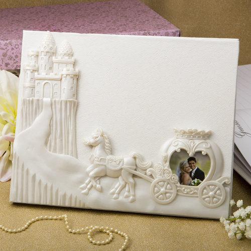 Fairytale design / Cinderella themed Wedding Guest book