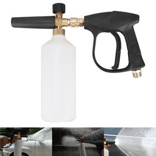 Adjustable High Pressure Snow Foam Washer Jet Lance Bottle Car Wash Spray Gun Uk