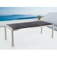 Garden table - Dining table 220cm - Stainless Steel - Black granite top - GROSSETO
