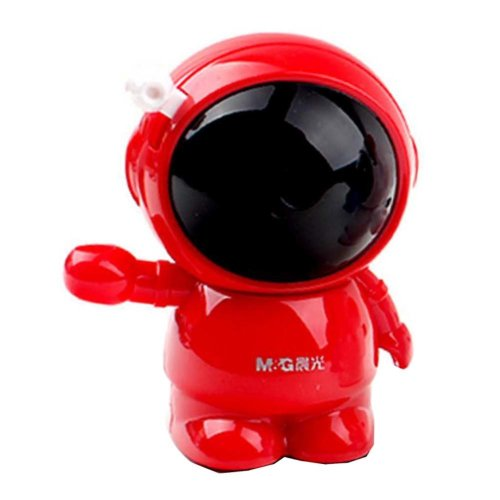 Astronaut Style Pencil Sharpener Fits Home Office School Classroom- Red