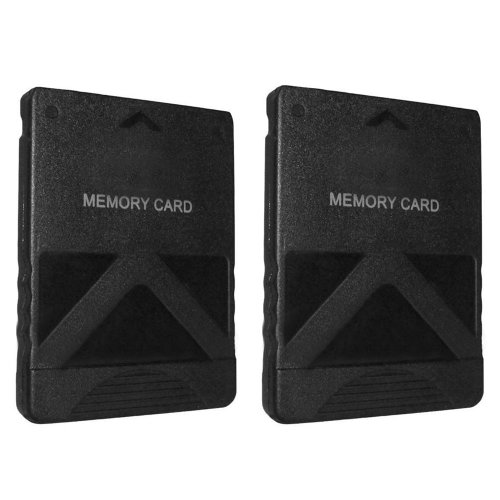 128MB memory card for Sony Playstation 2 PS2 Slim - Twin Pack black ZedLabz