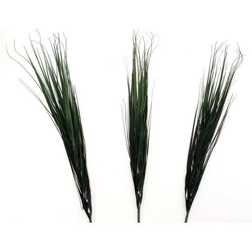 Set of 3 Artificial Dark Green Grass Sprays - 95cm - Green Foliage & Plants