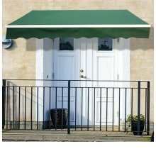 Outsunny 3m X 2.5m Garden Awning Winding Handle in Green