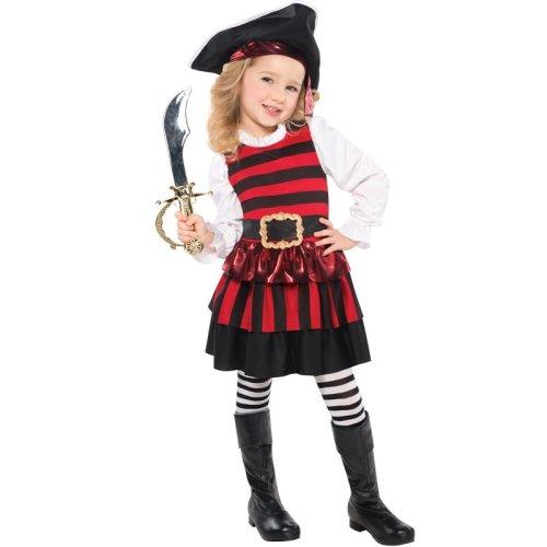 Kids Little Lass Pirate Fancy Dress Costume