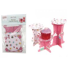 Set Of 3 Single Cupcake Stands - Set Of 3 Single Cupcake Stands Cake Decoration Utensil Accessory Kitchenware