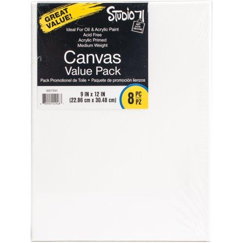"Studio 71 Stretched Canvas Value Pack 8/Pkg-9""X12"""