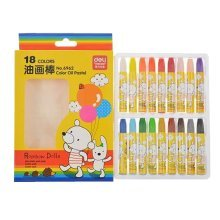 Kids Color Oil Pastel Sticks/Non-toxic Drawing Crayons/Students Stationery,18ct
