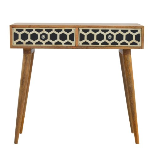 Console Table with Bone Inlay Drawer Fronts