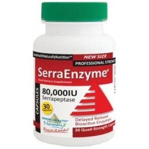 Good Health Naturally - SerraEnyme 80,000iu Serrapeptase 90Vcaps