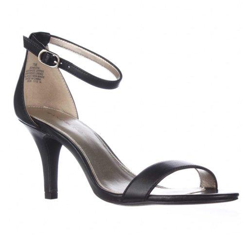 Bandolino Madia Ankle Strap Peep Toe Sandals, Black, 3 UK