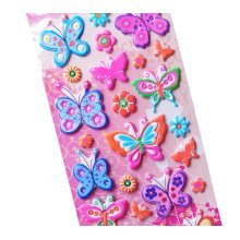 5 Sheets Funny Cartoon Stickers Children Decorative Toys[Butterfly]