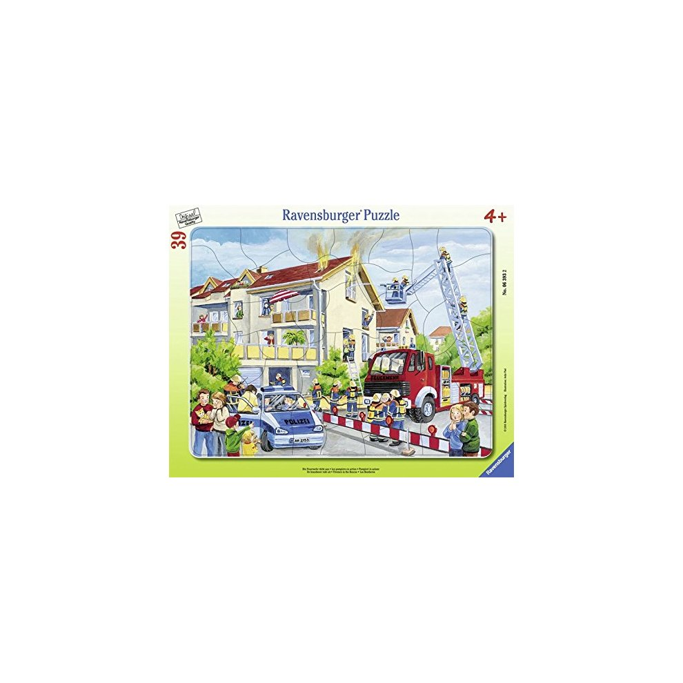 Ravensburger 06393 2 Jigsaw Puzzle in Frame 39 Pieces Firemen in Action