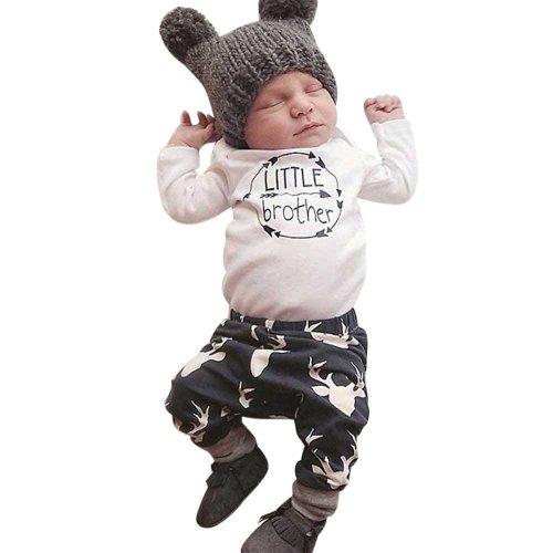 newborn baby boys girls clothing 2pcs sets Baby Girl Boy Clothes Romper Top T-shirt+Pants Leggings 2pcs Outfits Set