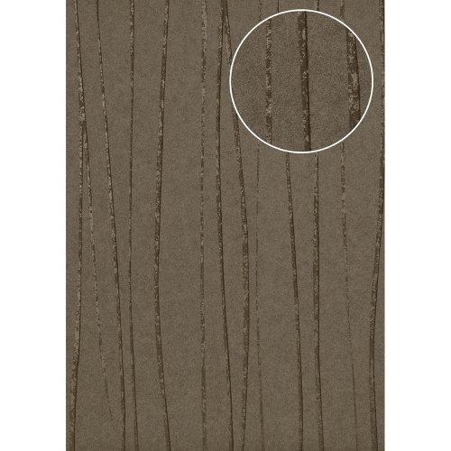 Atlas COL-566-5 Stripes wallpaper shimmering beige-grey bronze 5.33 sqm