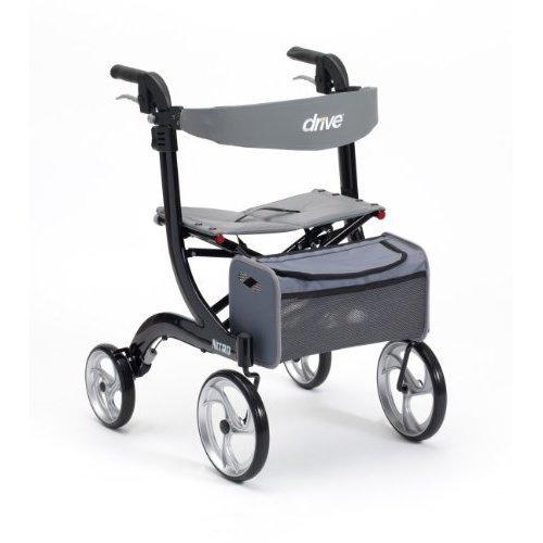 Drive Medical Black Nitro Wheel Rollator (Eligible for VAT relief in the UK)