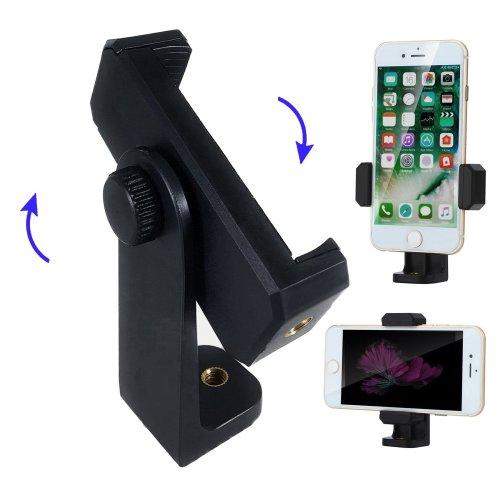Smartphone Video Record Tripod Adapter,Bingolar Cell Phone Tripod Adapter,360°Rotation Phone Holder Universal Above 5'' Smartphones Tripod Mount...