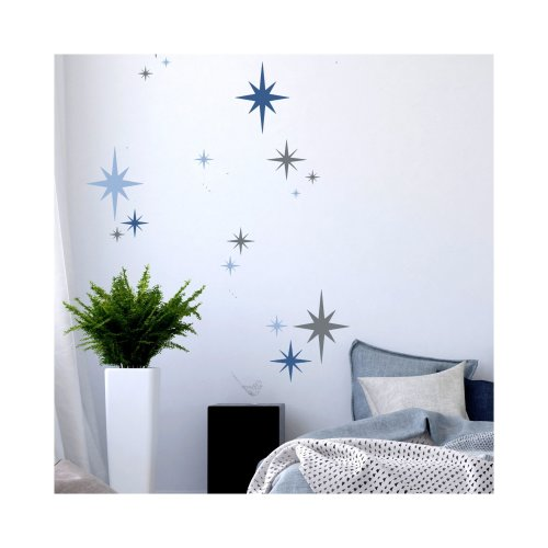 8-POINT STAR SET OF 6 Furniture Wall Floor Stencil for Paint