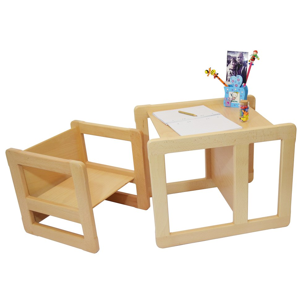 Obique Multifunctional Furniture Chair Table Set Natural On Onbuy
