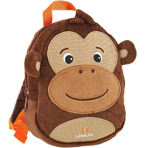 LittleLife Animal Toddler Monkey Backpack with Built In Safety Rein