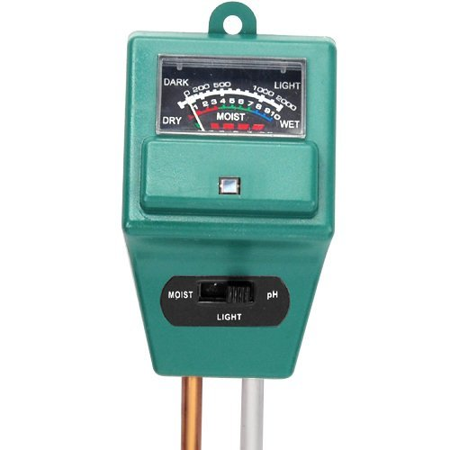 Trixes Hydroponic Meter for Soil Moisture & PH Light Levels