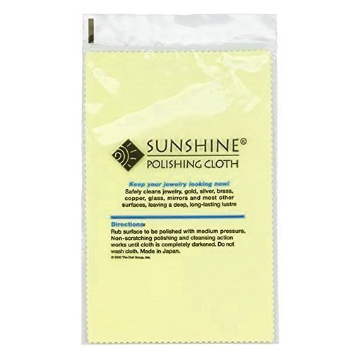 10 Sunshine Silver Polishing Cloth for Sterling Silver Gold Brass and Copper Jewelry Polishing Cloth