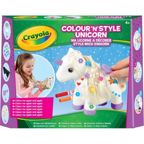 Crayola Colour'N'Style Unicorn Craft Kit | Paint-Your-Own Unicorn