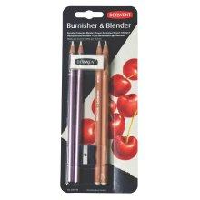 Derwent 2301774 Blender and Burnisher Pencil Blister Pack Plus Eraser