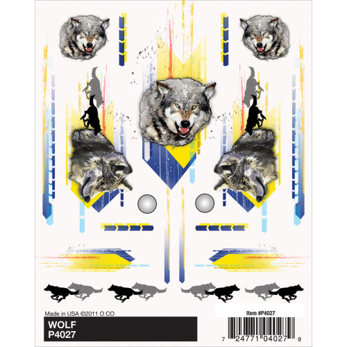 "Pine Car Derby Dry Transfer Decal 4""X5"" Sheet-Wolf"