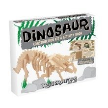 Dinosaur Construction Kit & Activity Book - Triceratops