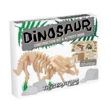 Dinosaur Construction Kit & Activity Book - Triceratops