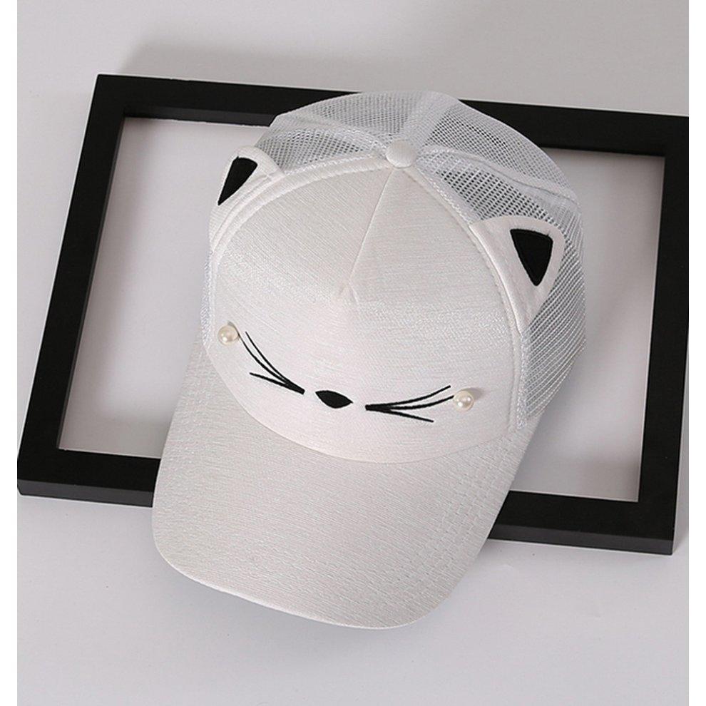 ... Cat Caps Fashion Caps Ladies Baseball Caps Sun Cap Women Golf Hats  White - 1.   42adef43b71