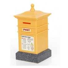 Creative Mailbox Cute Piggy Bank For Saving Money Coin Bank Square Yellow