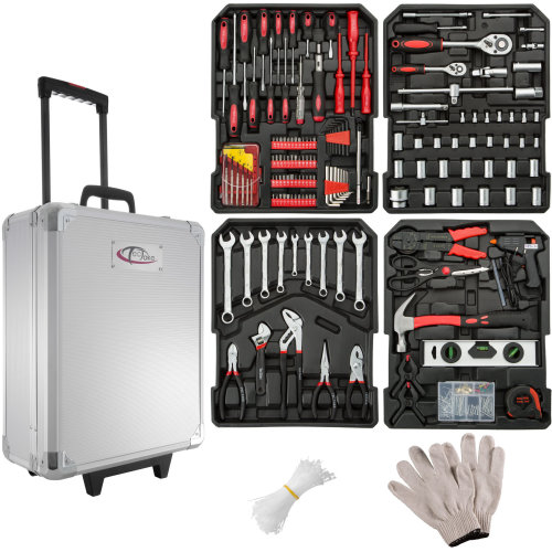 Tool box trolley 598 PCs - silver