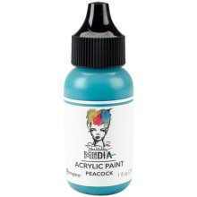 Dina Wakley Media Acrylic Paint 1oz-Peacock