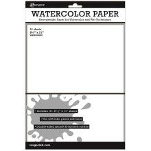 "Inkssentials Watercolor Paper 10/Pkg-White 8.5""X11"""