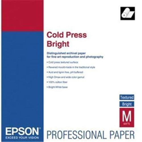Epson S042313 Cold Press Bright Fine Art Paper  17'' x 50 ft  Bright White  Roll