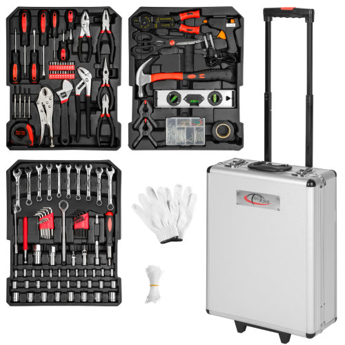 Tool box trolley 576 pieces - black